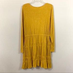 Anthropologie Dresses - Anthropologie Dolan Ingrid Mustard Jersey Dress